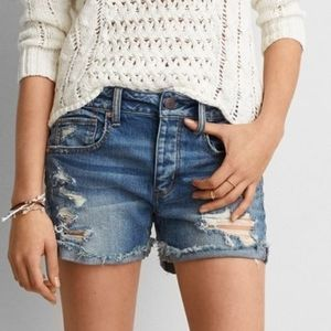 AMERICAN EAGLE Tomgirl Destroyed Cut Off Shorts 6